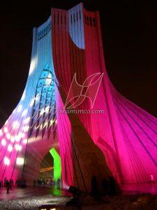نورپردازی میدان آزادی