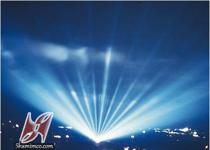 نورپردازی با پروژکتورهای آسمانی