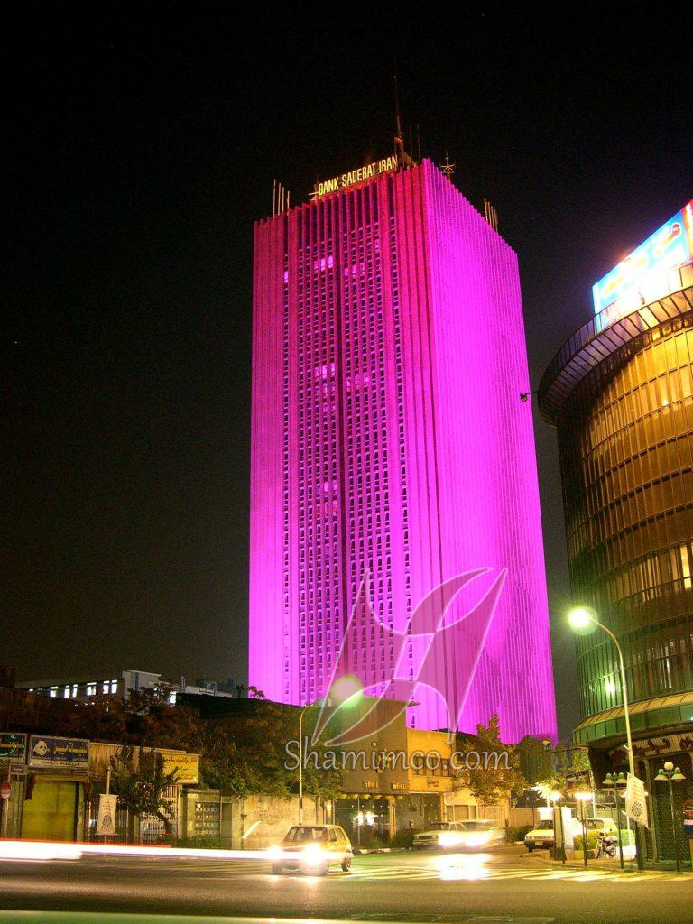 نورپردازی برج سپهر