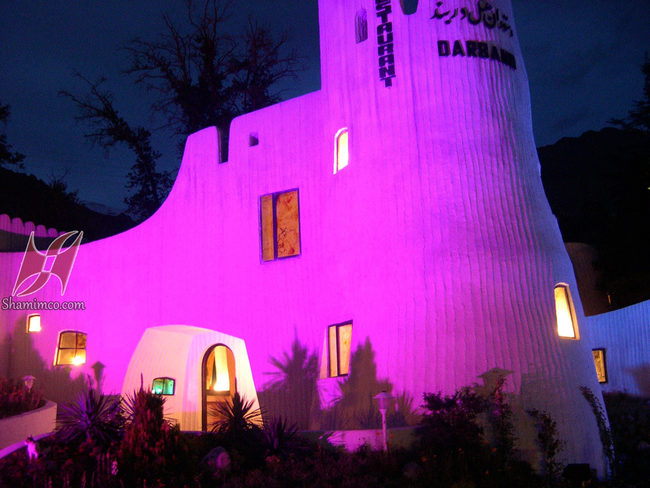 نورپردازی رستوران هتل دربند