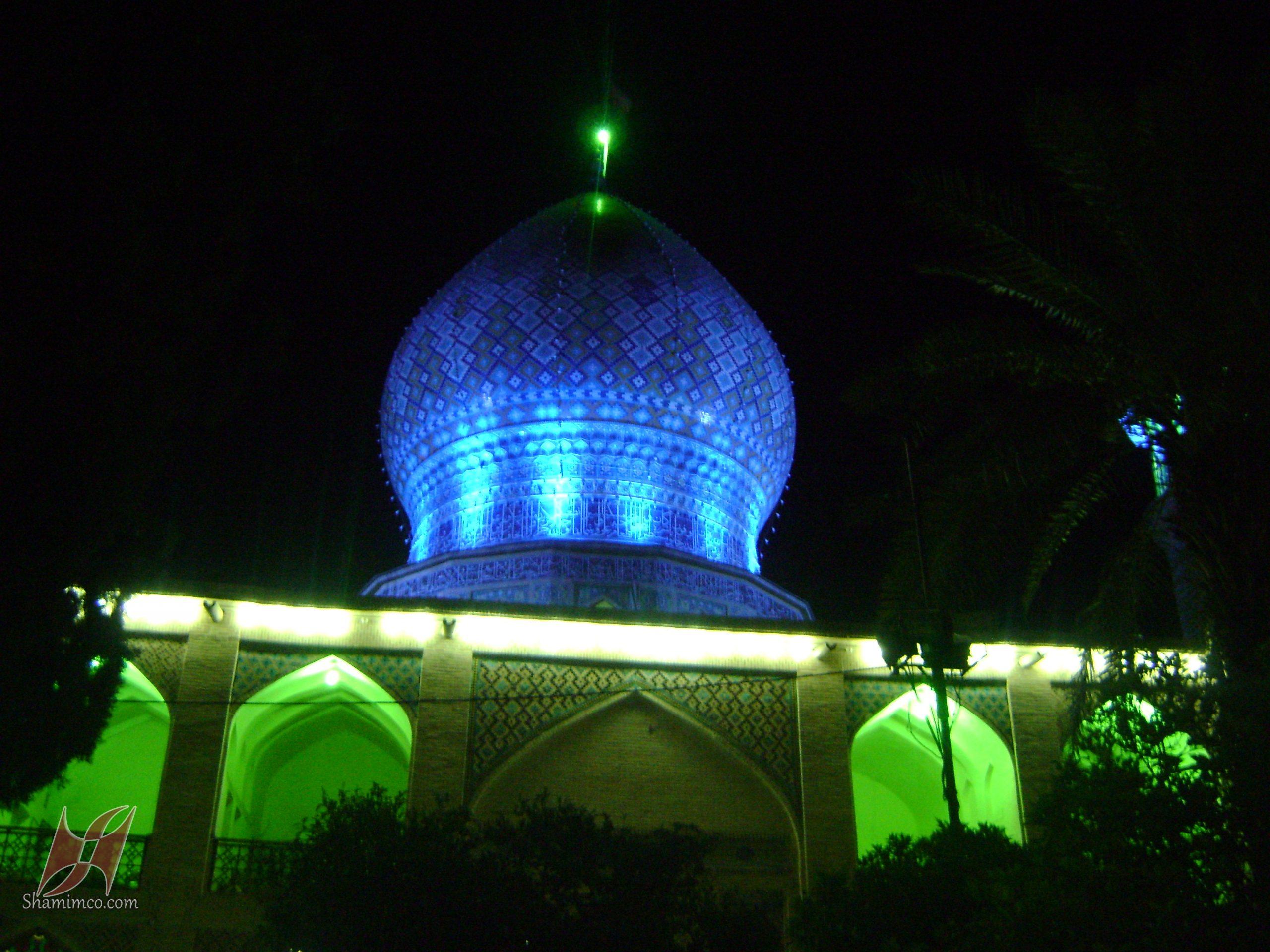 نورپردازی مسجد علی ابن حمزه