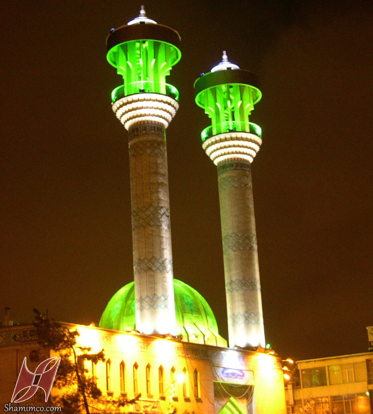 نورپردازی مسجد نور میدان فاطمی