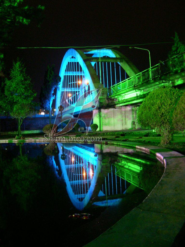 نورپردازی پل آمل