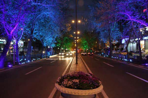 نورپردازی خیابان ها
