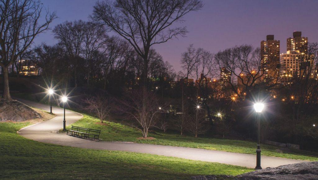 نورپردازی پارک ها و فضاهای سبز