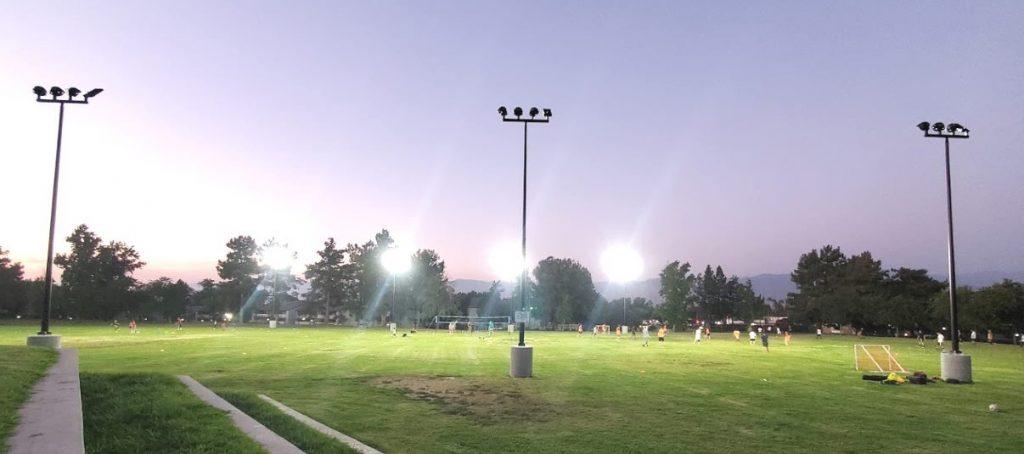 نورپرداری فضای زمین فوتبال