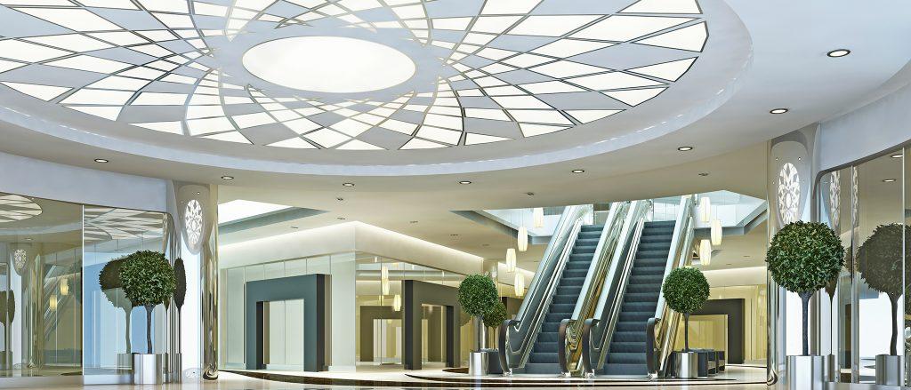 نورپردازی مرکز تجاری با لامپ های ال ای دی (LED)